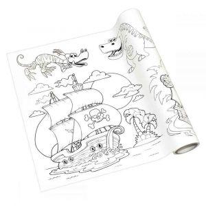 Maildor Rouleau fresque à colorier adhésif repositionnable, décor garçons