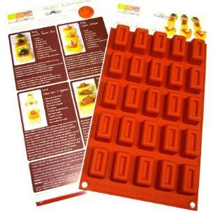 Scrapcooking Moule à 25 mini bouchées apéro rectangle en silicone