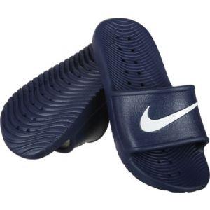 Nike Kawa Shower, Chaussures de Plage et Piscine Homme, Bleu (Midnight Navy/White), 42.5 EU