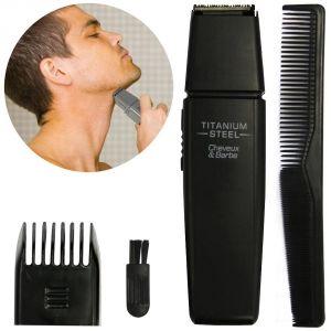 Promobo Set tondeuse, rasoir électrique et peigne homme pour cheveux et barbe