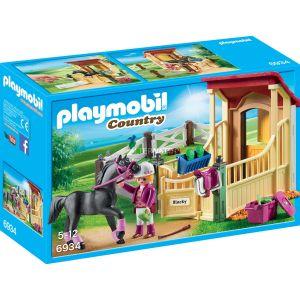 Image de Playmobil 6934 Country - Box avec Cavalière et Pur-Sang Arabe
