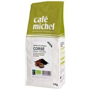 Café en grains bio Mélange Corsé - 1Kg - Café Michel