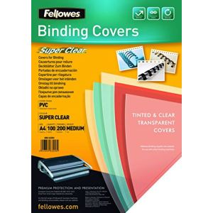 Fellowes 100 couvertures format A4 (diamètre 0,20 mm)