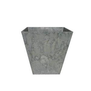Artstone Ivyline Pot de fleurs, Bac à plante Ella, résistant au gel et ultraléger, Gris, 30x29cm