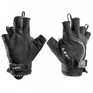 Leki Walking Gants Nordic Lite Shark Short, Mixte, Walking Handschuhe Nordic Lite Shark Short, Noir/Blanc