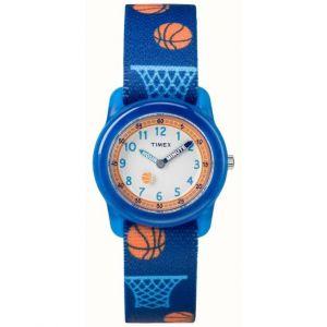 Timex TW7C16800 Montre pour garçon à quartz, affichage analogique et bracelet en tissu
