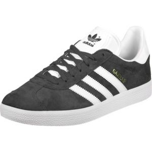 Adidas Gazelle, Basses Mixte Adulte, Bleu (DGH Solid Grey/White/Gold Metallic), 36 2/3 EU