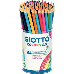 Giotto Crayon de couleur Colors 3.0 - Pot de 84