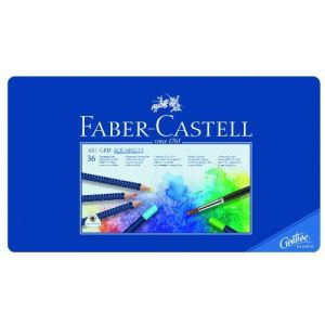 Faber-Castell 36 Crayons de couleur Art Grip aquarellables assortis