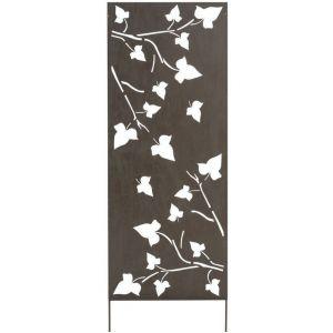 Nortene Panneau métal avec motifs décoratifs/Feuilles - 0,60 x 1,50 m - Brun vieilli