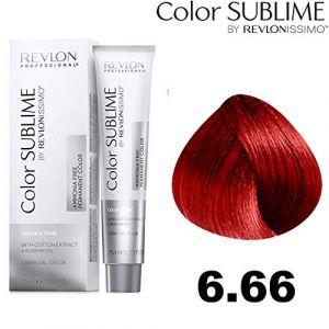 Revlon Color Sublime by issimo Coloration - Tube de 75 ml - Nuance : 6.66 Blond foncé rouge intense