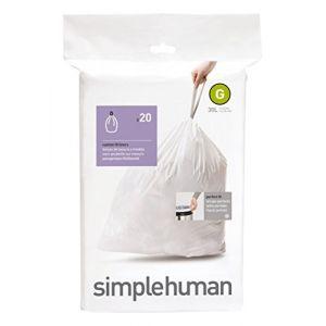 Simplehuman sacs poubelle - code G - 30L - paquet de 20