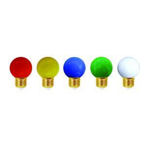 Girard sudron Lot de 5 ampoules led E27 étanches pour guirlande décorative (4 kits) - Kit guirlande - Kit Classic