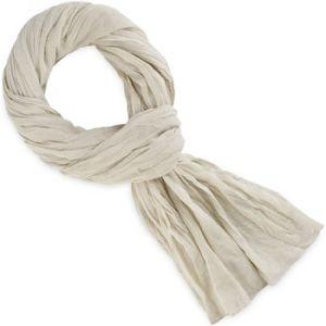 Allée du foulard Echarpe Chèche coton blanc de lin blanc - Taille Unique