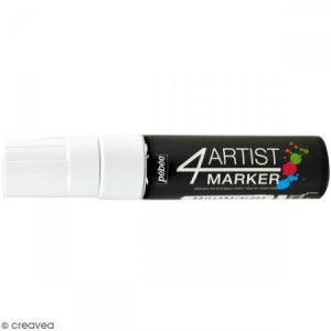 Pebeo Marqueur à huile 4Artist Marker - Blanc - Pointe plate - 15 mm