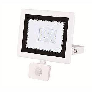 Silamp Projecteur LED Extérieur Détecteur de Mouvement Crépusculaire 30W Extra Plat IP54 - couleur eclairage : Blanc Froid 6000K - 8000K