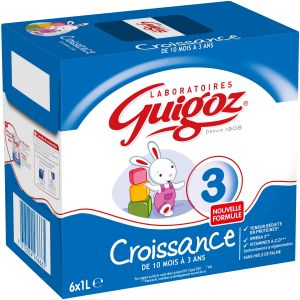 Guigoz Lait Bébé Liquide De 10 Mois À 3 Ans - Les 6 Briques De 1 L