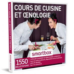 Smartbox Coffret cadeau Cours de cuisine et œnologie