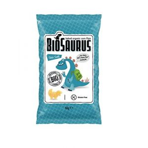 Biosaurus Chips Sel de Mer Junior 50 g - Lot de 6