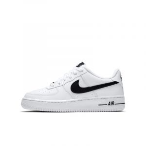 Nike Enfant Air Force 1 Noire Et Blanche Junior Baskets