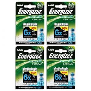 Energizer Accu Recharge Extreme AAA 800 mAh (par 4)