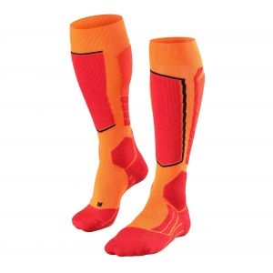 Falke SK2 Skiing Chaussettes Homme, Flash Orange, FR : L (Taille Fabricant : 44-45)