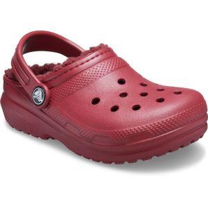 Crocs Classic Lined Clog Kids, Sabot Mixte Enfant, Rouge Brique, 33 EU