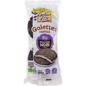 Grillon d'Or Galettes de riz nappées de chocolat noir bio 100 g