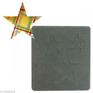 Sizzix 18656339 Big Shot 3 Étoiles Bigz Matrice de Découpe pour Machine Plastique Multicolore 14 x 2 x 17,5 cm