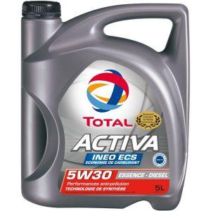 Total Huile moteur Activa Ineo ECS 5W30 Essence et Diesel 5 L