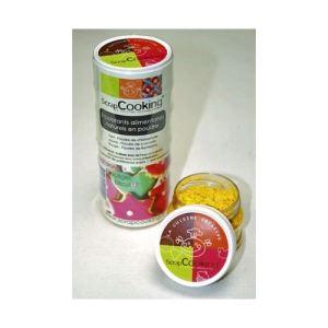 Scrapcooking Colorants alimentaires naturels en poudre 3 couleurs (rouge, vert et jaune)