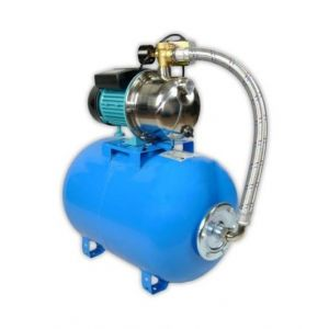 Omni Pompe d'arrosage POMPE DE JARDIN pour puits1100 W 60l/min avec ballon surpresseur 80L