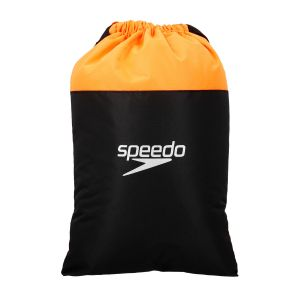 Speedo Pool Sac de Natation Mixte Adulte, Black/Fluo Orange, Taille Unique