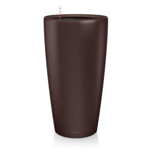 Lechuza Pot Rondo Premium 32 - kit complet, espresso métallisé Ø 32 cm
