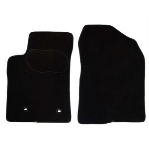 Norauto 2 tapis voiture sur mesure noir en moquettes PREMIUM