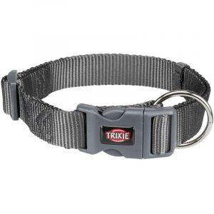 Trixie Premium collier - L-XL: 40-65 cm/25 mm, gris graphite