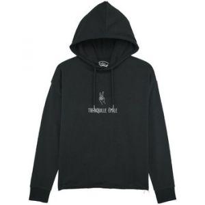 """Sorel Sweat-shirt Le Fabuleux Shaman Sweat capuche """"Tranquille emile"""" Noir - Taille EU S,EU M,EU L,EU XL,EU XS"""