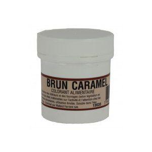 Mallard ferrière Colorant alimentaire en poudre Brun Caramel 20gr