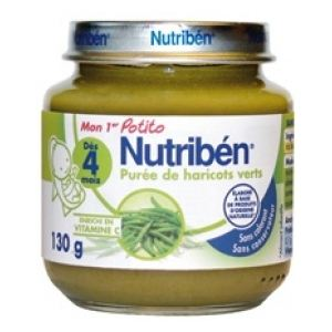 Nutribén Mon 1er Potito : Purée de haricots verts 130g - dès 4 mois