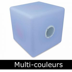 Caliber HSB513BTL - Enceinte Cube bluetooth LED lumineuse