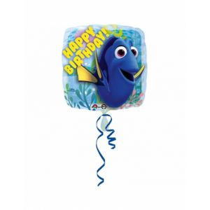 Ballon aluminium Happy Birthday Le Monde de Dory (43 cm)