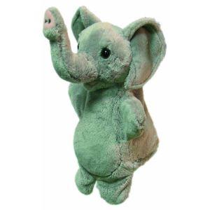 Sycomore Marionnette peluche Éléphant 23 cm