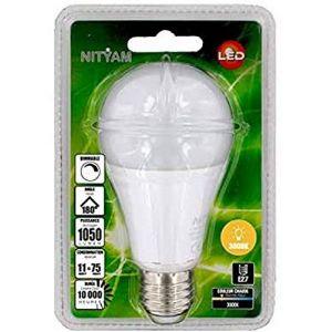 Nityam Ampoule LED Standard E27 dimmable - 11W équivalent 75W - 1050lm 3000K 180°
