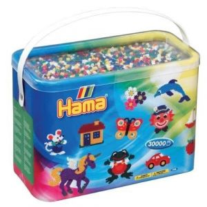 Hama Baril de 30000 perles Midi : 6 couleurs