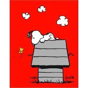 Cti Plaid polaire niche Snoopy (110 x 140 cm)