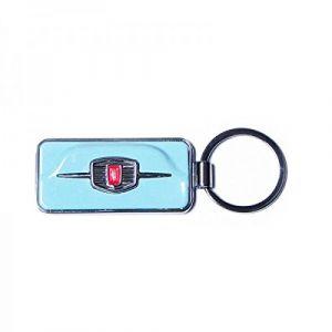 Fiat 500 Etui Porte-clés, Bleu Ciel (Turquoise) - FIKR42
