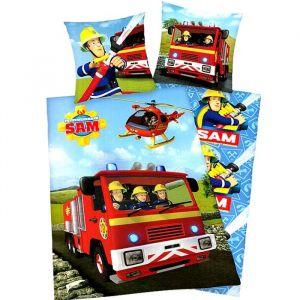 Herding Parure housse de couette Sam le pompier dans son camion (140 x 200 cm)
