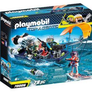 Playmobil 70006 - Bateau avec harpon Shark Team