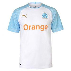 Puma Maillot Domicile Olympique de Marseille Replica pour Homme, Blanc/Bleu, Taille XXL |