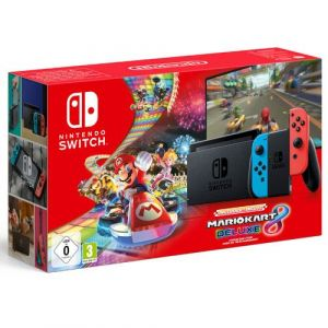 Nintendo Switch 2019 Bleue / Rouge + Mario Kart 8
